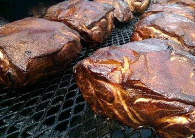 cooked in the smoker